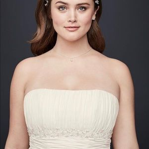 Chiffon empire waist wedding gown